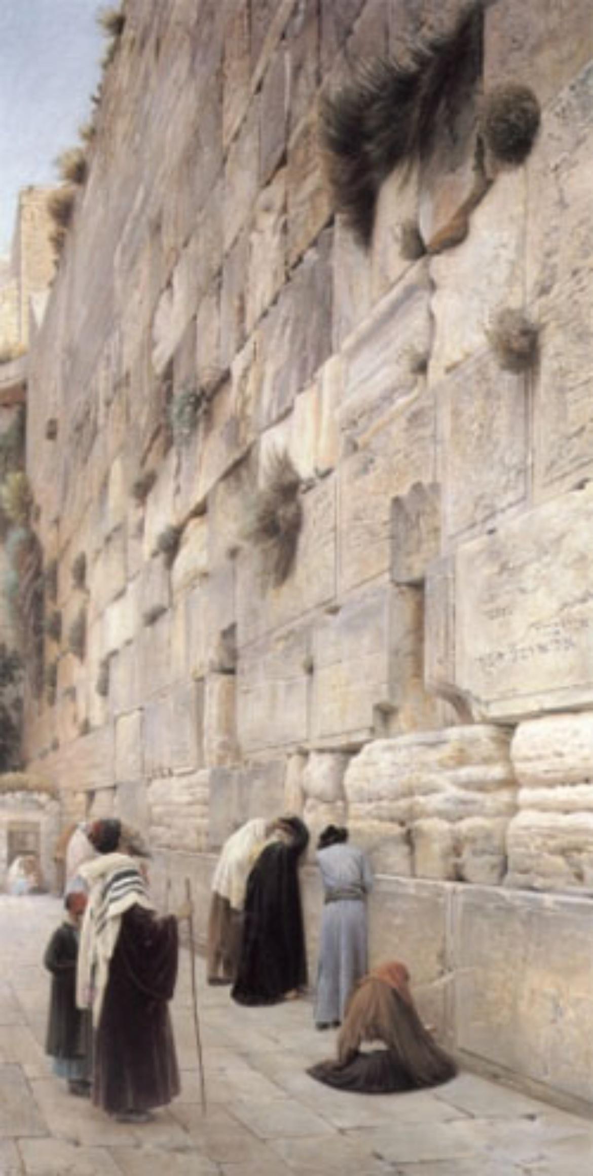 Bild: Klage der Gläubigen an der Klagemauer in Jerusalem (1904)