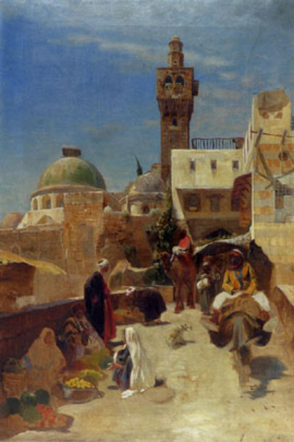 Bild: Orientalische Straßenszene (Jahr unbekannt)