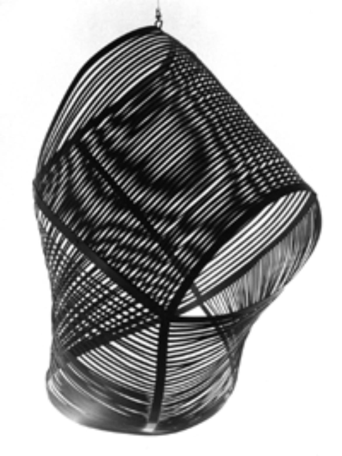 Vibración en negro (1957). Aluminium lackiert. 75 x 60 x 43 cm