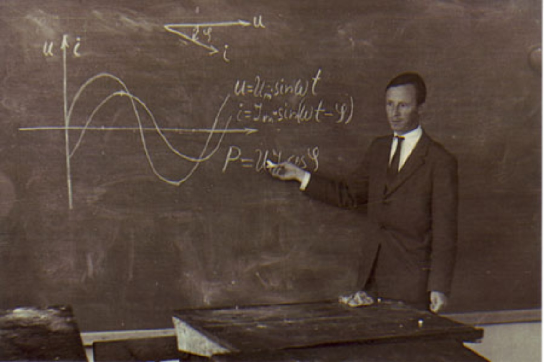 Hans Hellmann in einer Vorlesung an der TH Hannover