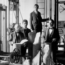 Ingenieure der Materialprüfungsanstalt Stuttgart 1897